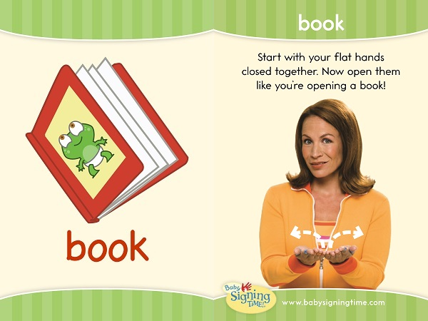 sign language flash card book