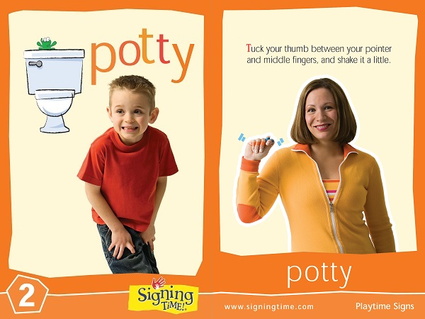 Bathroom Sign Language Baby potty - signing time
